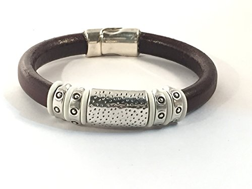 Chunky Black Licorice Leather Bracelet - Black Licorice Leather Bracelet
