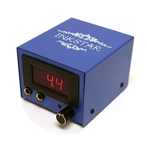 INKSTAR BLUEBOX Tattoo Power Supply Unit for Liner & Shader Gun LCD - Power Box Gun Tattoo Supply