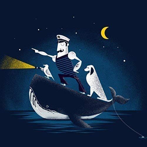 Boat Captain Stargazer Gift Sailor Gift Telescope Blueprint Nautical Decor Naval Decor Nautical Telescope Poster Print Navigator Gift