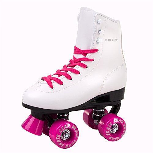 Big Boy Speedy Roller Skate Kids Youth Adult Men Women Size 1-13 (White Pink, 10 (Adult (Womens Roller Skate)