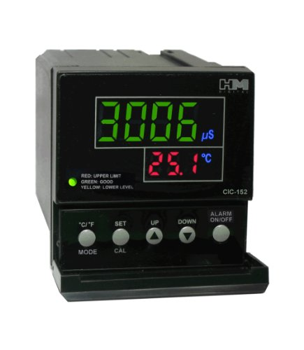 Tds Controller - HM Digital CIC-152-4 Dual Control Dosing/Injection TDS/EC Controller with 442 Conversion Factor, 0-9999 µS Measurement Range, 0.1 µS/ppm Resolution, +/-2% Readout Accuracy