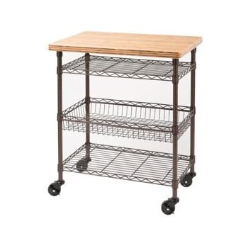 Seville Classics Professional Chef S Kitchen Cart With Solid Bamboo Top