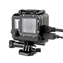 MagiDeal Side Open Skeleton Housing Protective Case Cover for GoPro Hero 3 3+ 4 Black