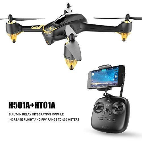 HUBSAN H501A+ WiFi Waypoint FPV for Adults RC Brushless Quadcopter Drone with GPS HT011A Transmitter 1080P HD WiFi Camera Live Video Headless Mode