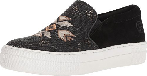 ROPER Women's Darcy Black Suede Heel/Canvas Embroidered Upper 7 M US ()
