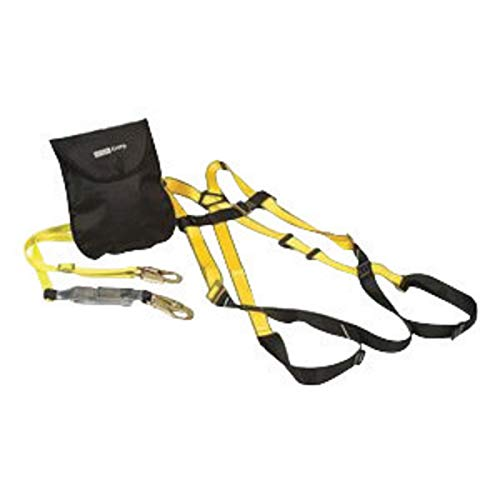 MSA Workman Aerial Kit (Includes Vest-Style Harness With Qwik-Fit Leg Straps, Workman Single-Leg Adjustable Shock-Absorbing Lanyard And Carry - Shock Workman Leg Single