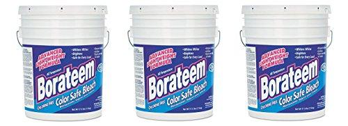 Dial 871882 Borateem Non-Chlorine Color Safe Bleach,17.5 lb Pail, 424 Loads (3-Pails) by Dial