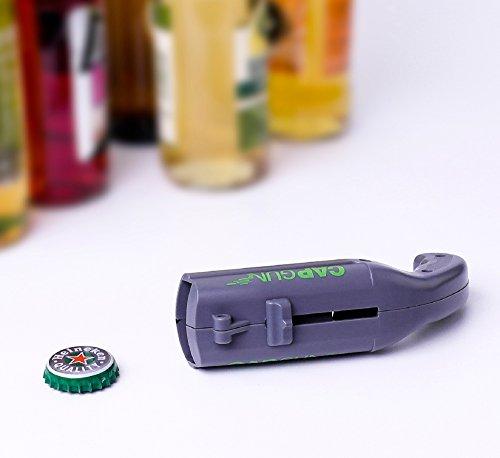 Cap Gun Launcher Shooter Bottle Opener,Beer Openers - Shoots Over 5 Meters (Gray) by Frola (Image #2)