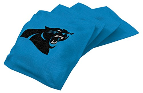 Wild Sports NFL Carolina Panthers Blue Authentic Cornhole Bean Bag Set (4 Pack)