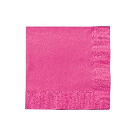 Shatchi 11635-NAPKINS-HOT-PINK-100 servilletas de papel rosa caliente 33 cm 2 capas despedida de soltera servilletas de papel para cumplea/ños catering bodas