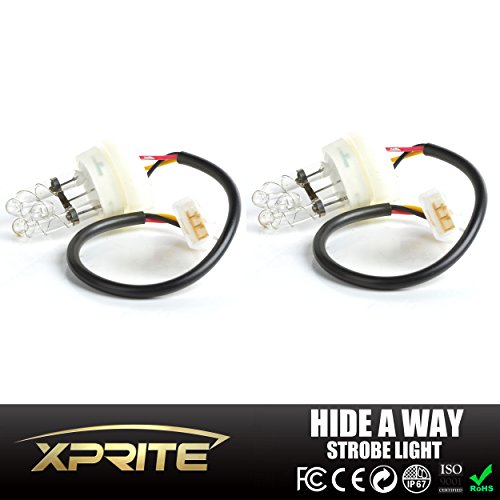 Xprite 2 White Hide Away Strobe Tube for 80w / 120w / 160w Kits Headlight Replacement Bulbs