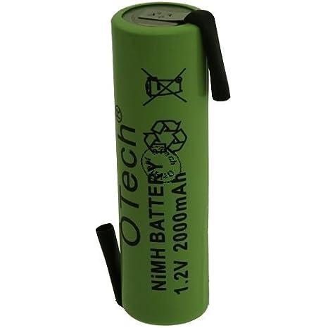 Packs de 2 pilas recargables con trabillas para soldar R6 1.2 V Ni-CD 800 mAh: Amazon.es: Electrónica