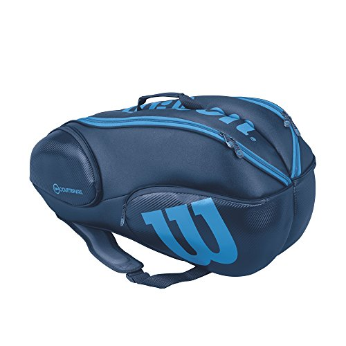 Vancouver Racket Bag, Ultra Collection - 9 Pack (Blue) by Wilson