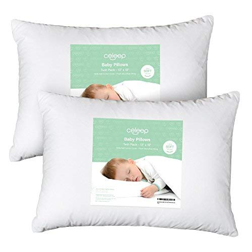Pillow Crib ([2-Pack] Celeep Baby Toddler Pillow Set - 13