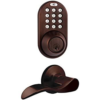this item milocks dfl02ob electronic touchpad entry keyless deadbolt and passage lever combo oil rubbed bronze