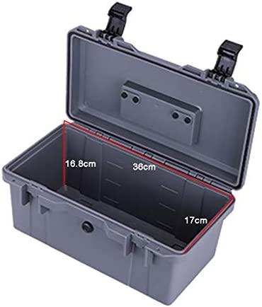 Wilk Waterproof Tool Box with Handle, Plastic Portable Tool Box with Tray Double-layer Removable Transport Box for Home Repair and Tool Storage (Gray)