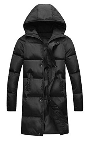 Parka Jacket Men Long Jacket Men Snow Hooded Warm Coats Parkas Men Plus Size S-4XL 5XL Thick Long Men Jackets Black XL