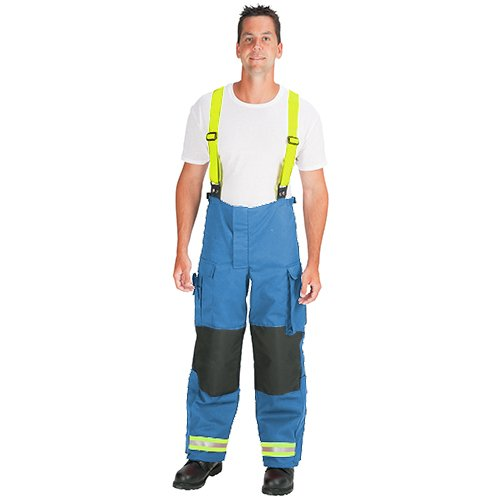Royal Blue with 2 Lime//Yellow-Silver-Lime//Yellow Triple Trim 26 Inseam TOPPS SAFETY EP02Y1115-54 A13 Deluxe EMS Pants 54 Waist Polyester//Cotton