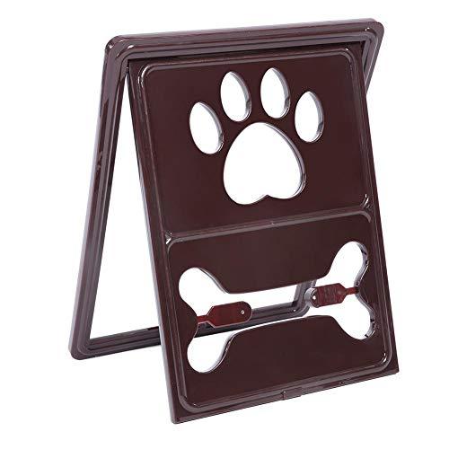 Pet Dog Door Security Gate Window Screen Magnetic Closure Puppy Cat Animal Pet Supplies(Coffee)