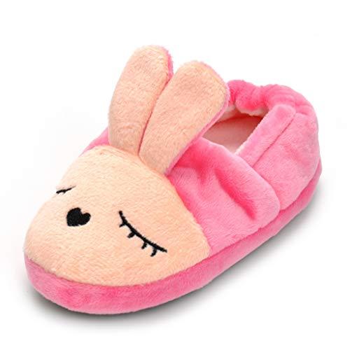 Csfry Baby Girl's Rabbit Slipper US 11-12 Pink -