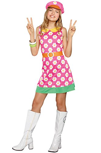 SugarSugar Girls/Tween Girly A-Go-Go Costume, One Color, Small