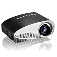Projector, Syhonic S8 HD LED Mini Portable Multimedia Home Theater Projector Support HDMI USB SD AV…