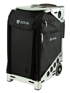 Zuca Professional Wheelie Case for Stenograph in Black with Silver Frame (Wave Stenograph Machine compare prices)