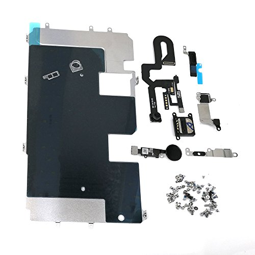 E-REPAIR Screen Assembly Metal Bracket Front Camera Flex Cable Small Parts Set Replacement For iPhone 8 Plus (5.5 inch) (Black) by E-REPAIR