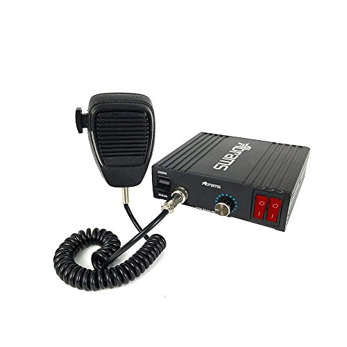 Abrams Ranger Series 100 Watt Siren PA System Set with Mechanical Tones - 6 Tones - Comes with Handheld PA Microphone - 2 Light Control Switches & 100W ECO Siren - Lights Series System