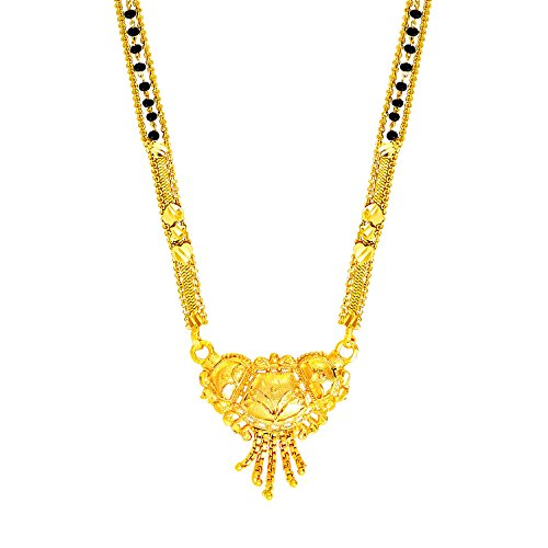 bodha 22K Gold Plated Traditional Indian Bollywood Inspired Long Mangalsutra Necklace for Women (SJ_2298) ()