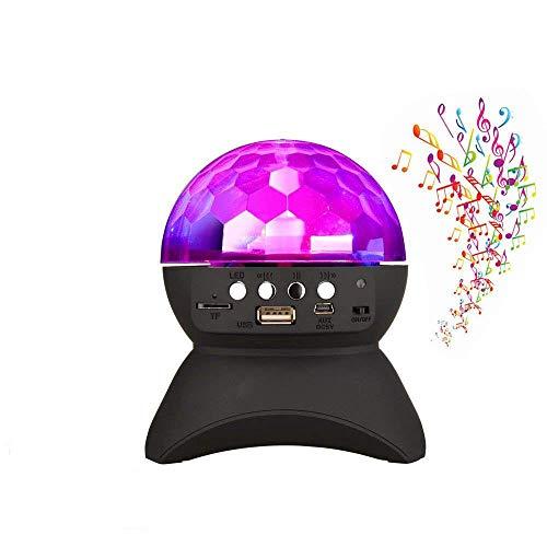 ZLHW Luz de la bola de discoteca con altavoces inalámbricos portátiles Bluetooth Etapa mágica de las luces LED, altavoz...
