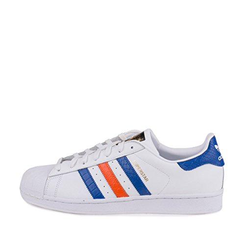 Adidas Mens Superstar East River Rival FT White/BO Blue/Orange Leather Size 8 Casual Shoes