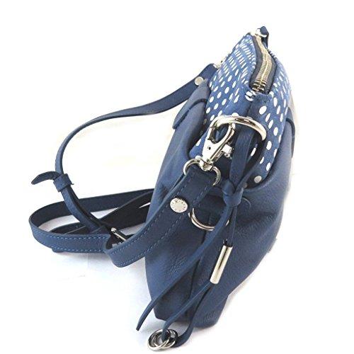 Bolsa de cuero 'Gianni Conti'guisantes azules - 28x17x7 cm.