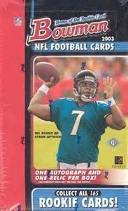 Bowman Nfl Football Cards Box - 2003 Bowman NFL Football HOBBY box