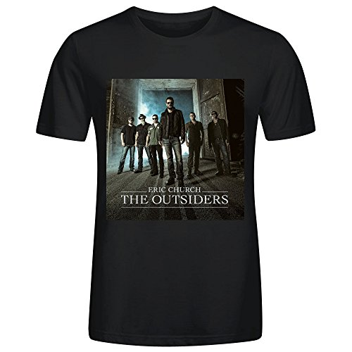eric-church-the-outsiders-printed-t-shirts-for-men-crew-neck-black