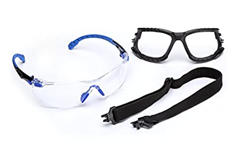 3M Solus 1000 Series Protective Eyewear Kit with Foam, Strap, Clear Scotchgard Anti-fog Coating, One Size Fits Most, - Series Gasket