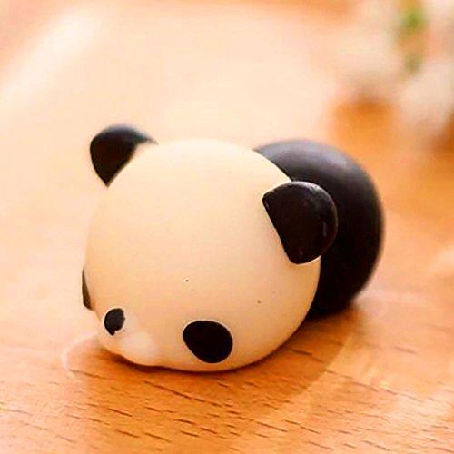 Maphissus Soft Animal Squeeze Stretch Compress Squishy Decompression Toy Art (balck panda)