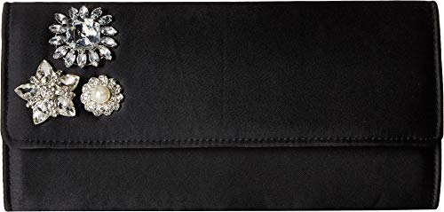 Rhinestone Jessica Fiona Broach Clutch McClintock Black Womens CCtWf4Sq