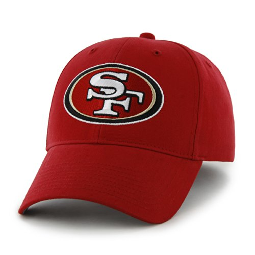 NFL San Francisco 49ers Basic MVP Adjustable Hat, Youth, Red (Basic Logo Fitted Hat)