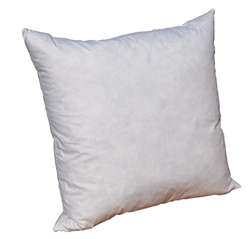 Pillowflex 95% Feather by 5% Down Pillow Form Insert Stuffers for throw sham covers and cushions (22 Inch by 22 Inch)