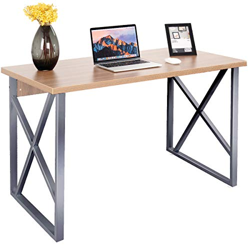 Tangkula Writing Table Computer Desk, Home Office Desk, Modern Simple Style Wood Study Workstation Writing Desk, Wooden Computer -