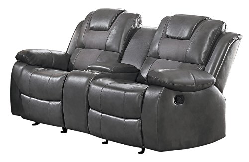 Amazon Com Homelegance Taye Glider Double Recliner Loveseat With