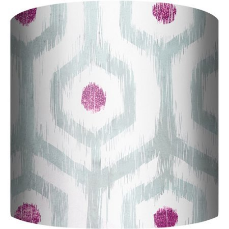 "Beautiful and Attractive 10"" Drum Lamp Shade, Ikat II 