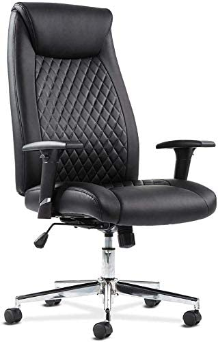 Ergonomic PU Desk Task Executive Chair Rolling Swivel Chair Executive Computer Chair Height Adjustable Arm