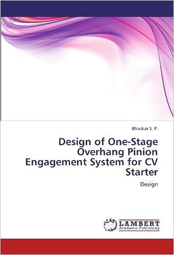 Descargar El Utorrent Design Of One-stage Overhang Pinion Engagement System For Cv Starter Como PDF