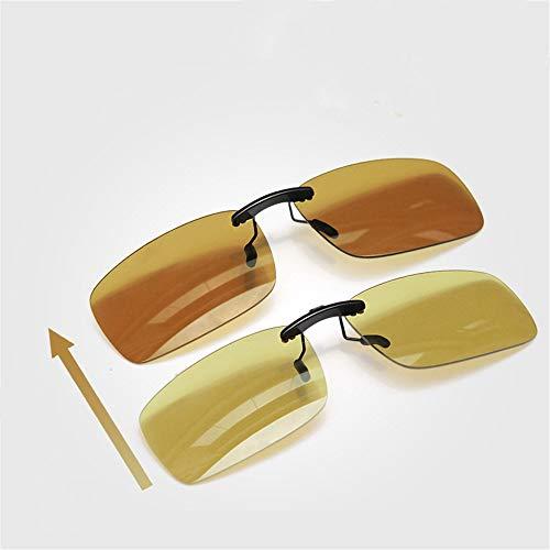 Que Clip Noche Las los día Alta de polarizado KOMNY Conduce Anti Color la Sol de Gafas El de Clip de y de Cambia Nocturna Hombres visión y viga Que de PUOq5O1