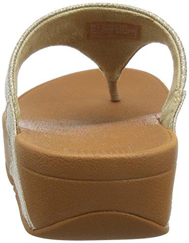Fitflop Kvinners Lulu Shimmer Print Thong Sandal Gull Shimmer-print