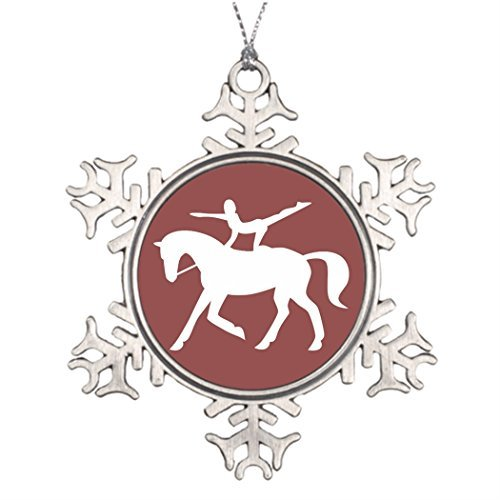 onalised Christmas Tree Decoration horse vaulting icon Western Christmas Snowflake Ornaments Icon ()