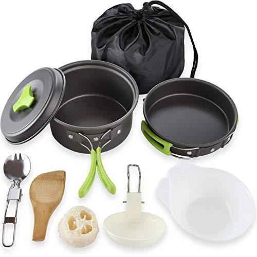 Verus - Juego de sartenes antiadherentes para Acampada y Camping, para cocinar al Aire Libre, al Aire Libre, al Aire Libre: Amazon.es: Deportes y aire libre