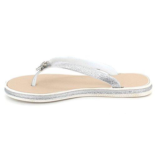 Toe Femmes Poids Soir Plat Diamante Blanc léger Doux Post Taille Été Chaussures Sandales Brillant Dames Pantoufle Décontractée des 55rvwpq